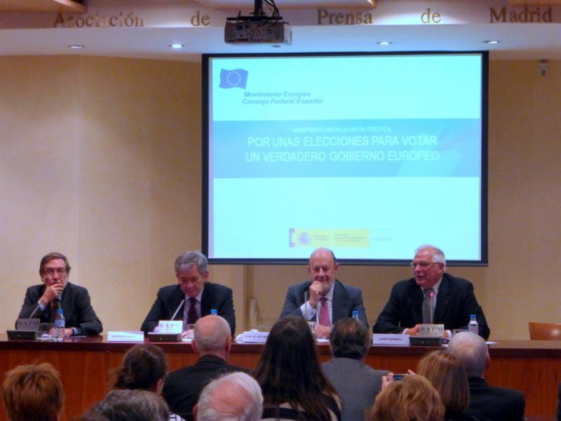 Tres ex-presidentes para presentar un Manifiesto por un verdadero Gobierno Europeo