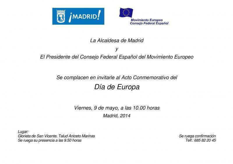 Invitación al Día de Europa 2014