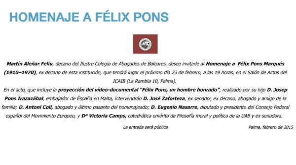 Homenaje a Félix Pons