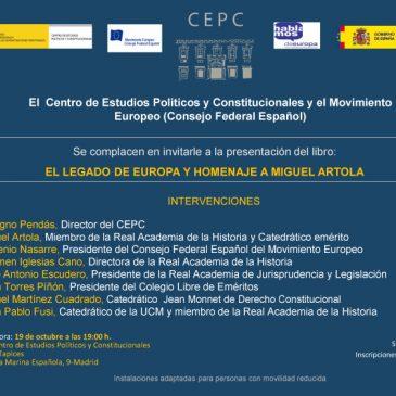 El legado de Europa y homenaje a Miguel Artola
