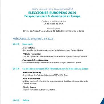 ELECCIONES EUROPEAS 2019.  Perspectivas para la democracia en Europa