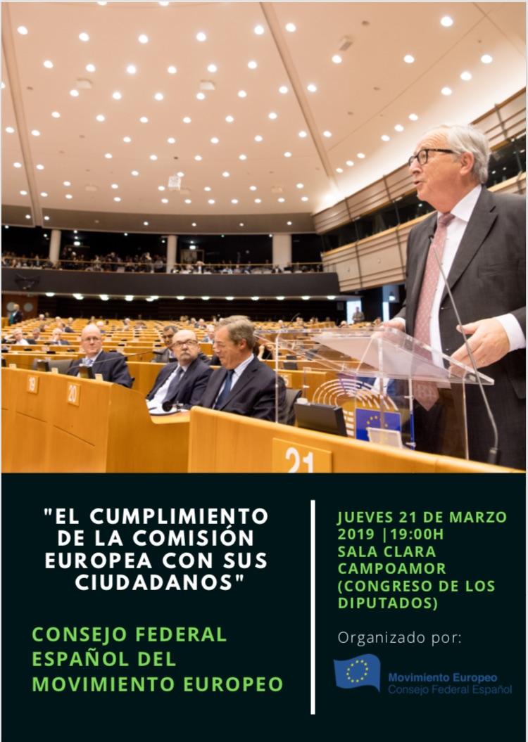 """Presentación del libro del CFEME """"El cumplimiento de la Comisión Europea con sus ciudadanos"""""""