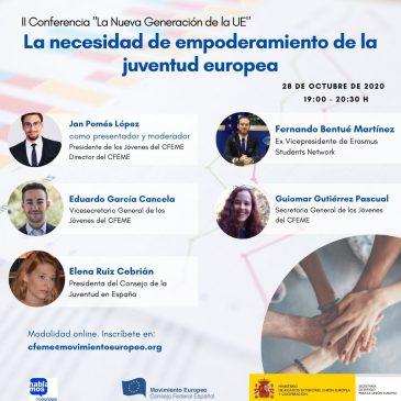 II Conferencia del ciclo «La nueva generación de la UE»: La necesidad de empoderamiento de juventud Europea