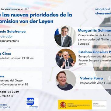 Registro VI Conferencia Telemática: La «Nueva Generación de la Unión Europea»: Un año de las prioridades de la Comisión von der Leyen».