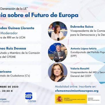 Registro en VII Conferencia Telemática: La «Nueva Generación de la Unión Europea»: Conferencia sobre el Futuro de Europa