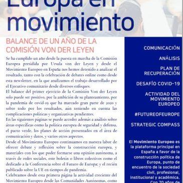 Balance de un año de la Comisión Von der Leyen (newsletter nº 27 diciembre)