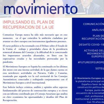 Impulsando el Plan de Recuperación de la Unión Europea (Newsletter nº 25 sep-oct)