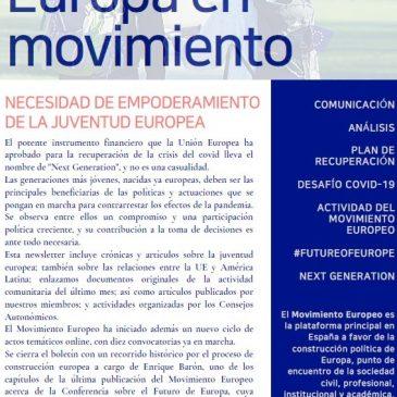 La necesidad del empoderamiento de la juventud europea (newsletter nº 26 noviembre)