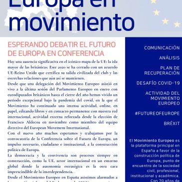 Esperando debatir el futuro de Europa en la Conferencia (newsletter nº 28 enero de 2021)