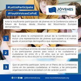 firma en la Declaración sobre la voz de los jóvenes en la Conferencia sobre el Futuro de Europa